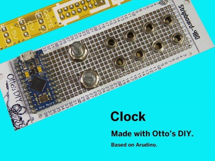 Microclock - Modular Synthesizer Module With Arudino